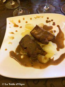 La cigogne d'argent Foie gras panés