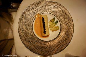 Restaurant 1741 rouleau de spaghetti, caviar et langoustines (2012)