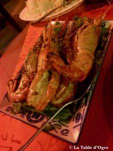 Restaurant Café Pereybere Camarons à l'ail