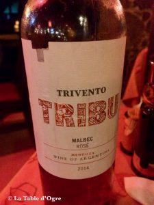 Restaurant Café Pereybere Trivento Malbec Tribu Argentine