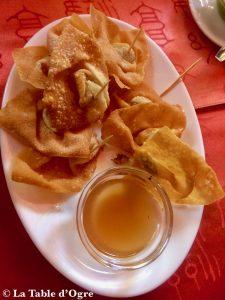 Restaurant Café Pereybere Wantan frits