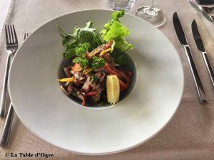 Sauterelle Salade de poulpe