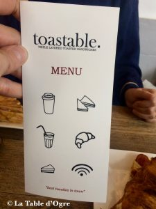 Toastable Carte
