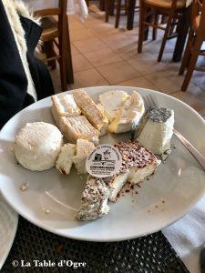 Auberge solognote Assiette de fromages