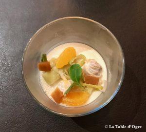 Le Bréard Panna Cota coquillages fonds de poireaux